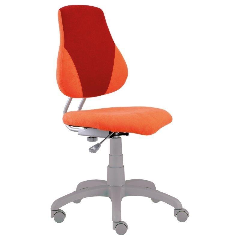 Alba Dětská rostoucí židle FUXO V-LINE, oranžová/vínová