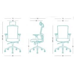 Emagra Kancelářská židle X4 s podhlavníkem, červená
