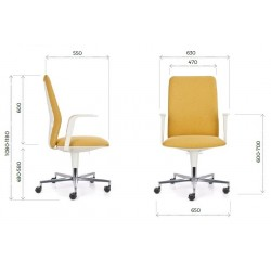 Emagra Kancelářská židle FLAP/ W s područkami, šedá