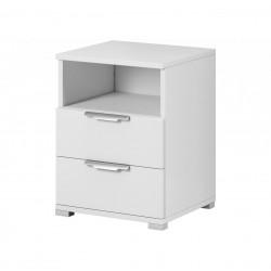 Noční stolek Izzy 2s bílý