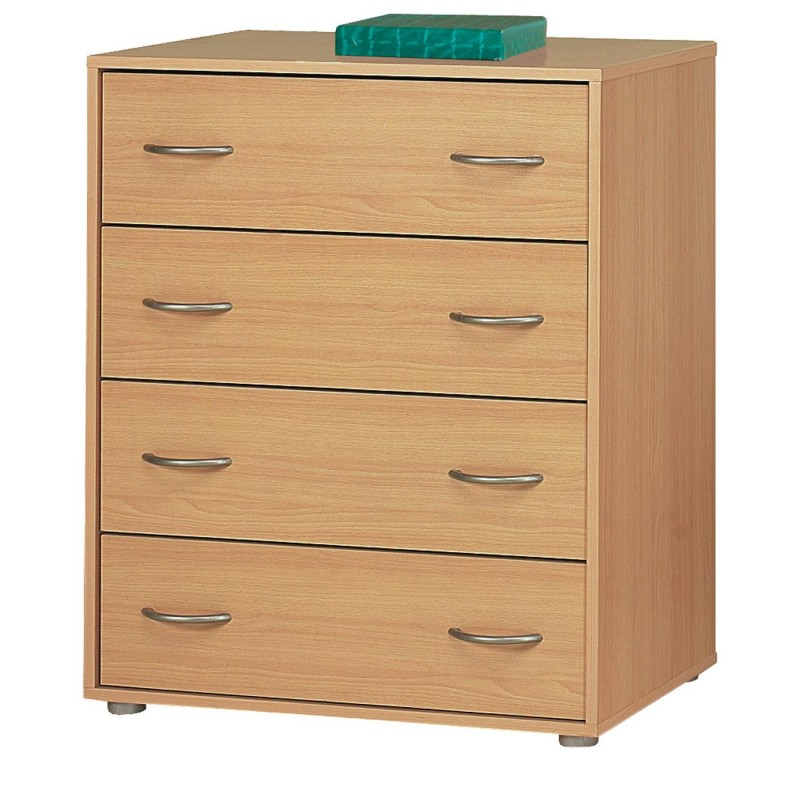Idea nábytek Prádelník 4 zásuvky 1502 buk