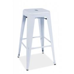 Barová židle LONG HOCKER, bílá