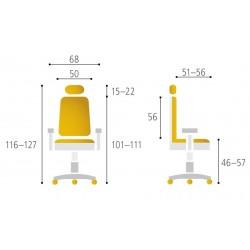 Office Pro Kancelářská židle MERENS BP, žlutá